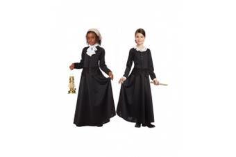 (Medium, One Color) - California Costumes Susan B. Anthony/Harriet Tubman Girl Costume, One Colour, Medium