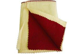 SE - Polishing Cloth - Yellow & Red, 30cm x 30cm . - JT-PC112yr