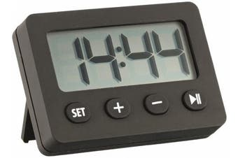 La Crosse Technology 60.2014.01 Digital Timer with Alarm and Stopwatch, Black