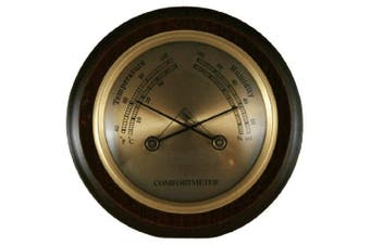 Ambient Weather WS-YG357 Cherry Finish Compact Traditional Temperature + Humidity Comfortmeter