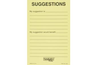 Buddy Products Suggestion Box Cards, 10cm x 15cm , Yellow, 50 Cards per Pack (5621)