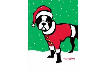 Nouvelles Images XDB 500 Holiday Boxed Note Card Set - Boston Terrier Santa, Marc Tetro (XDB 500)