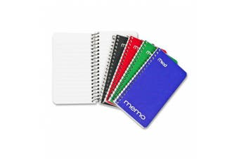 Mead Memo Book, College Ruled, 13cm x 7.6cm , Wirebound, 60 Sheets, Assorted (45534)