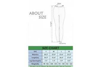 (Asian XL = US L, Dark green) - Surfing Leggings Women Swim Tights Swimming Pants Sun Protection