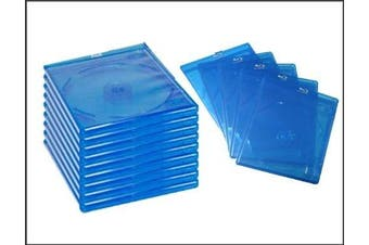 Blu-Ray standard cases with Logo 170 x 135 x 11 mm set of 50 storage boxes for 1 Disc - By DragonTrading®