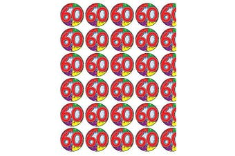 24 x 60th Birthday Edible Wafer Paper Cup Cake Toppers