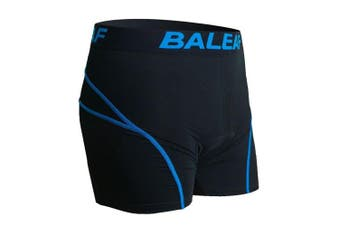 (Large, Blue) - Baleaf Men's 3D Padded Bike Bicycle MTB Cycling Underwear Shorts