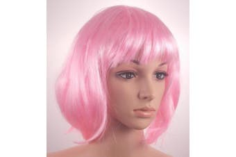 Fashionable Pretty Short Pink Bob Babe Wig Girls Ladies 20s 60s 70s 80s 90s Fancy Dress Party Cosplay Hairstyle