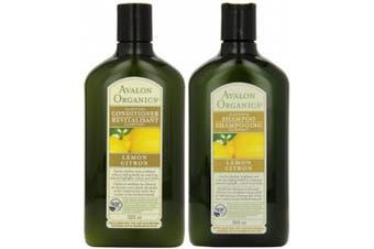 (330ml, Duo Set, Shampoo + Conditioner) - Avalon Organics Clarifying Lemon, DUO Set Shampoo + Conditioner, 330ml, 1 Each