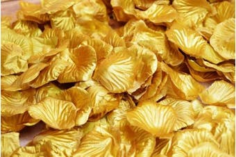 Gold Silk Rose Petals Confetti for Weddings in Bulk by PaperLanternStore