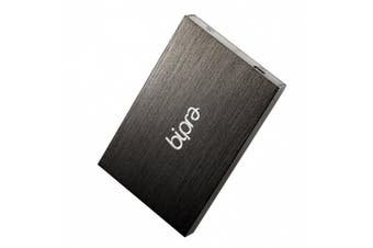 (400GB) - Bipra 400GB 6.4cm USB 2.0 FAT32 Portable External Hard Drive - Black