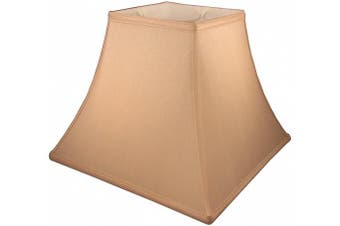 (10cm  X 20cm  X 18cm , Honey) - American Pride 10cm x 20cm x 17cm Square Soft Shantung Tailored Lampshade, Honey