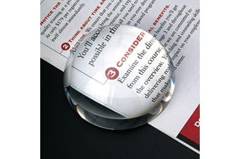 (8.3cm ) - Amlong Crystal Dome Paperweight and Crystal Magnifier, 8.3cm Clear