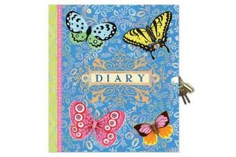 (Beautiful) - eeBoo Beautiful Diary with Lock and Key for girls