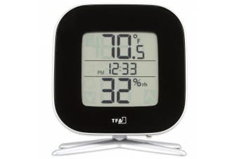 La Crosse Technology 30.5030.01 Tivi Digital Thermo-Hygrometer with Time, Black