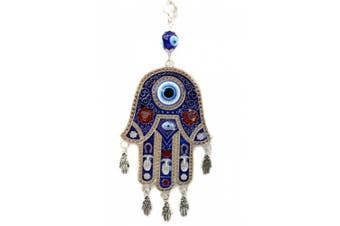 Blue Evil Eye Hamsa Protection Hanging Decoration Ornament (With Betterdecor Gift Pouch)