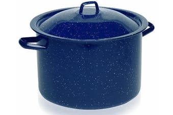 (7.3l) - IMUSA USA C20666-10636W Speckled Enamel Stock Pot 7.3l, Blue
