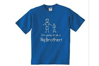 (7-8 Years) - I'm Going To Be a Big Brother Blue Tshirt Baby Toddler Kids Available in Sizes from 0-6 Months New Baby Brother Gift