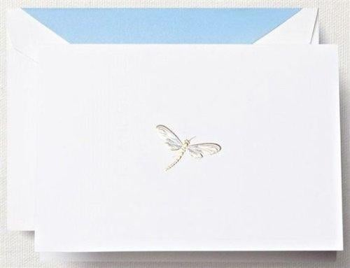 Crane /& Co RF1403 Hand Engraved Dragonfly Note