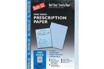 Blue Security Prescription Paper - 250 Sheets