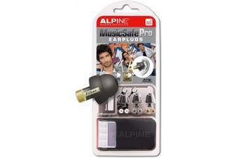 Alpine MusicSafe Pro Hearing Protection System for Musicians, Black (MUSICSAFE-PRO-BLK)