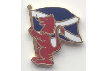 Scotland Lion Rampant Saltire Standard Bearer Enamel Lapel Pin Badge T735