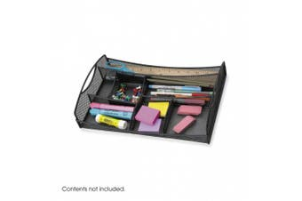 (Drawer) - Safco Products Onyx Mesh Drawer Desk Organiser, Black, 3262BL