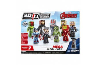 3D Character Creator Mavel Spriderman Mega Refill Pack Novelty Toy