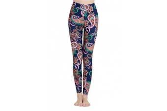 (Asian M = US S, Darkblue) - Women's Long Swimming Pants Swim Tights Elastic Leggings