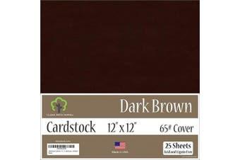 (30cm  x 30cm  - 25 Sheets) - Dark Brown Cardstock - 30cm x 30cm - 29kg Cover - 25 Sheets