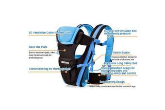 (Blue) - CdyBox Adjustable 4 Positions Carrier 3d Backpack Pouch Bag Wrap Sling Front Back Newborn Baby Infant (Blue)