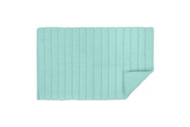 (43cm  x 60cm , Mint) - DII Oceanique Machine Washable 100% Cotton Ribbed Woven Luxury Spa Bath Rug, 43cm x 60cm , Mint
