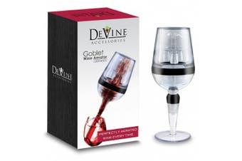 DeVine Goblet Design Instant Wine Aerator - Professional Grade - Aerate Wines in Seconds