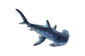 Blue Printed Hammerhead Shark Plush Toy 60cm L