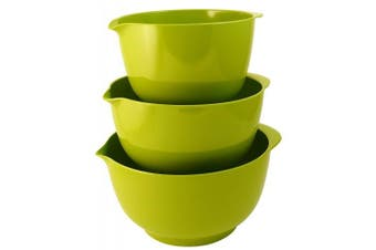 (Lime Green) - Hutzler Melamine Mixing Bowl Set: 2, 3 and 4 Litres, Lime Green