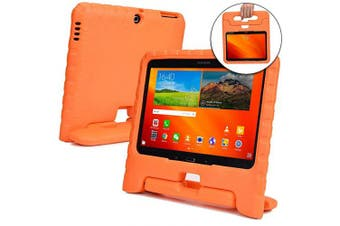 (Orange) - Cooper Dynamo [Rugged Kids Case] Protective Case for Samsung Tab 4 10.1, Tab 3 10.1 | Child Proof Cover, Stand, Handle | SM-T530 T531 T535 (Orange)