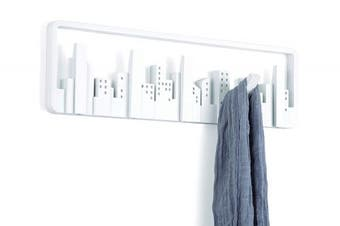 (White) - Umbra Skyline Wall-Mounted Multi-Hook System, White