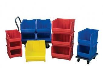 (Red) - Akro-Mils 30290 70cm D by 46cm W by 30cm H Super Size Plastic Stacking Storage Akro Bin, Red