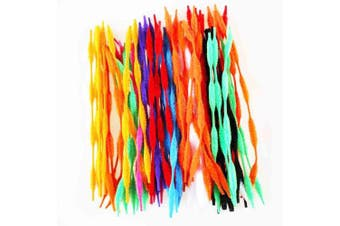 (multicolored) - Caryko Fuzzy Bump Chenille Stems Pipe Cleaners, Pack of 100 (Mix)