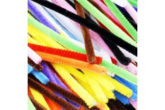 (Mix) - Caryko Super Fuzzy Chenille Stems Pipe Cleaners, Pack of 100 (Mix)