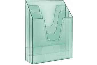 (Clear Green) - Acrimet Vertical File Folder Organiser (Clear Green)