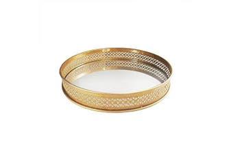 American Atelier Round Mirror Tray, 15 x 38cm x 5.7cm , Gold