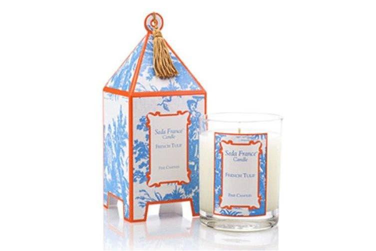 (French Tulip) - Seda France Classic Toile French Tulip Mini Pagoda Candle