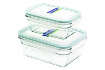 (Rectangle, 4-Piece) - Glasslock 4-Piece Rectangle Oven Safe Container Set