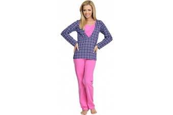 (Small, Pink-1) - Be Mammy Womens Nursing Pyjama Set Claudia
