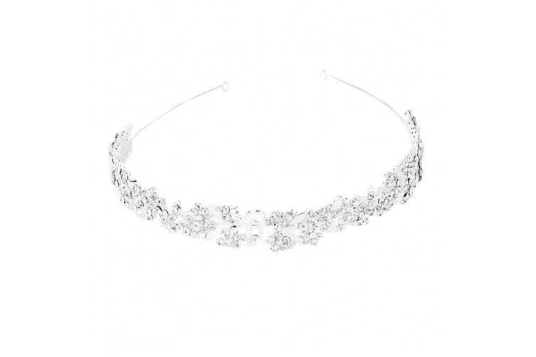 Tiaras Hairband-Foxnovo Bridal Crowns Headband Crystal Tiaras for Wedding