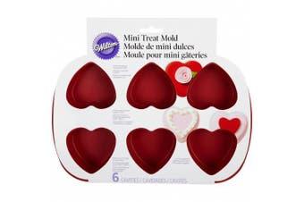 (Heart (6-Cavity)) - Wilton 6-Cavity Silicone Heart Mould Pan