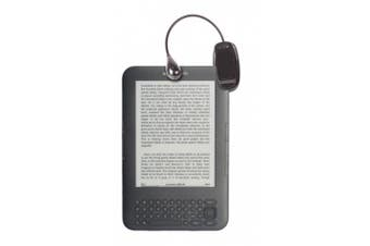 DURAGADGET Black Battery Powered Clip On Reading Light + Flexible Neck For E-Readers Including Amazon Kindle Keyboard, Amazon Kindle 4, Amazon Kindle Touch, Sony Reader Pocket Edition, Sony Reader Wi-Fi, Sony PRS-T3