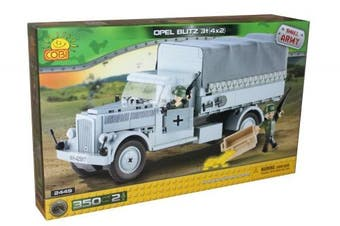 Small Army 2449, WW II german transportation vehicle Opel Blitz 3-tonnes 4x2, 350 building bricks by Cobi