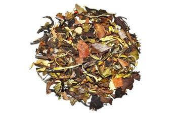 (120ml) - Chinese Tea, Ginger Orange Peach White Tea, Blood Circulation, Antioxidants - Loose Leaf White Tea, 120ml